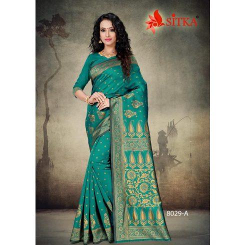 Handloom saree - Aqua