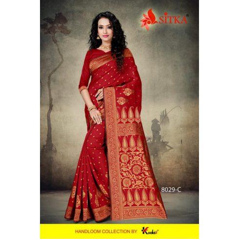 Handloom saree - Red