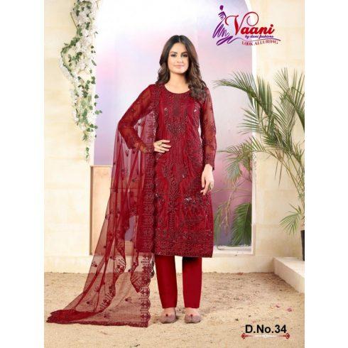 Heavy Salwar Suit Set- Red