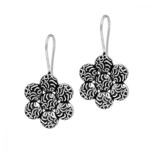 Flower Shape Oxidized Earrings