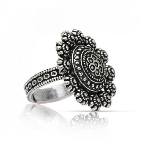 Oxidised Traditional Ring
