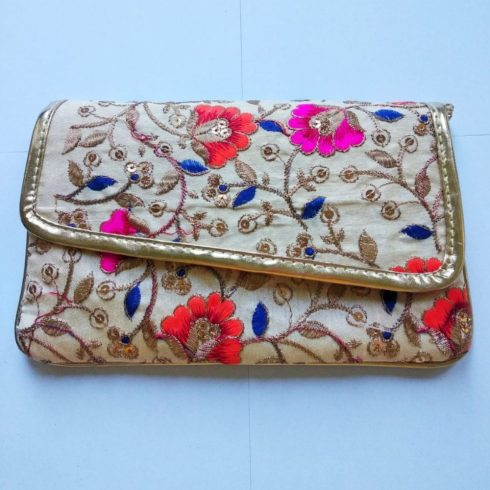 Flower Embroidery Hand Bag