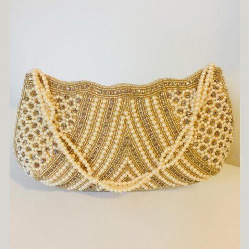 Gold Shell Hand Bag