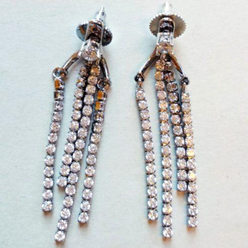 3 Strings Silver Color Earrings