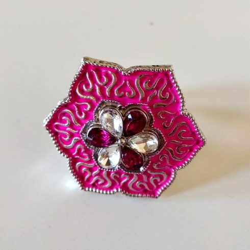 Rani Glass Stone Traditional Meena Ring
