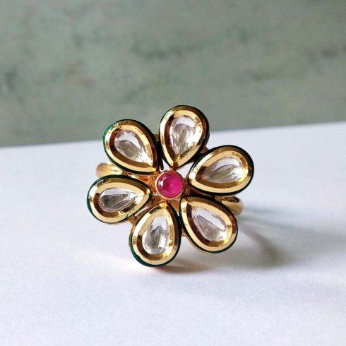 Kundan Meena Típusú Gyűrű