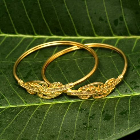Gold Color Pair Of Bangle B123