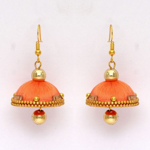 Thread Earrings with beads (2 Colors)