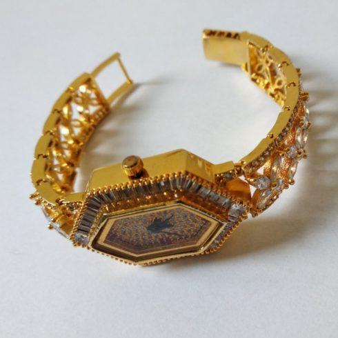 Gold Rhinestone Watch